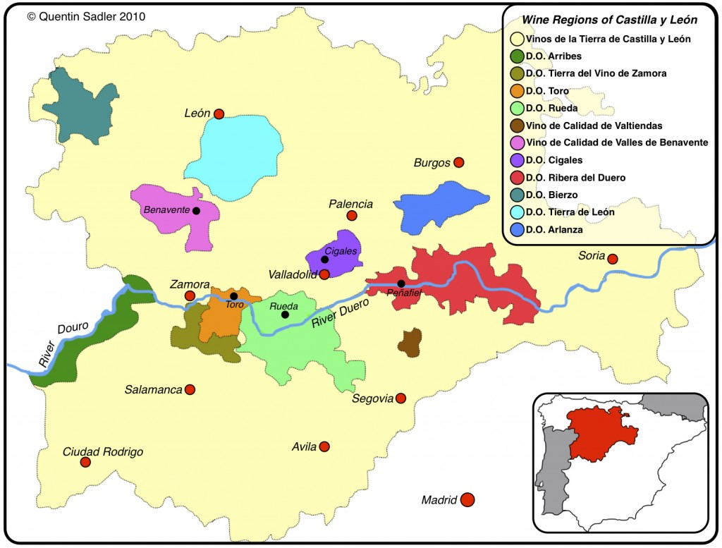 Map Of Spain Vineyards.The Wines Of Ribera Del Duero A Spanish Surprise Forget Burgundy